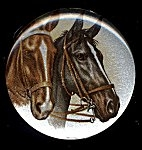Plastic Limoges<br>38mm - 2 Horses<br>18 Pieces for