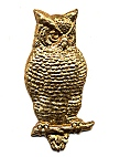 Brass Owl Stampings<br>20 pieces for