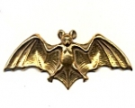 Brass Bat Stampings<br>20 pieces for