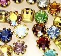 Rhinestones in settings<br>17ss Mixed Color Assortment<br>2 gross for