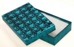Blue Foil Box<br>5 1/2&quot;x 3 3/8&quot; 1&quot; Deep<br>1 Dozen For