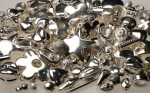 Sterling Plated Plastic Beads<br>3 Pounds For